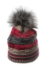 Villagehouse Strata beanie with faux fur pom 201v11