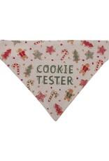 Dog collar bandana large cookie tester 108209