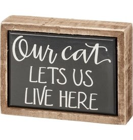 Box sign mini our cat108364