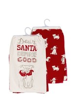 none Dish towel set Dear santa
