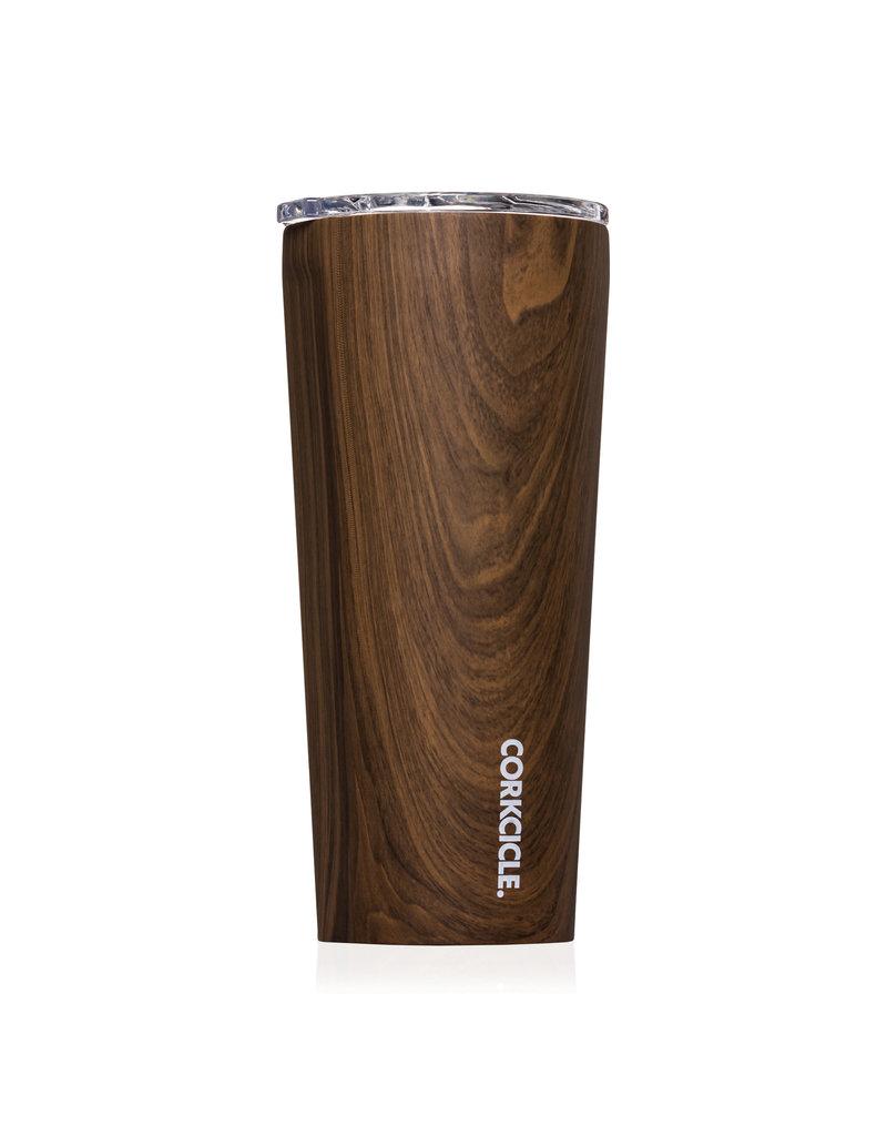 cork 24 oz walnut wood tumbler