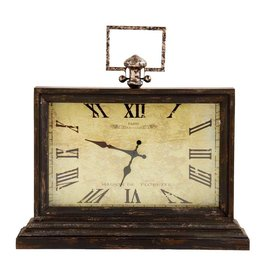 "20.5 "" wood table clock"