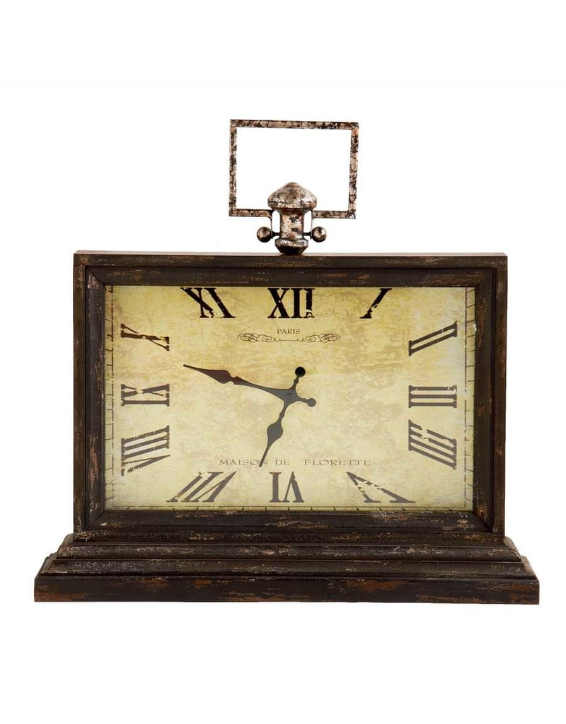 "20.5 "" wood table clock"