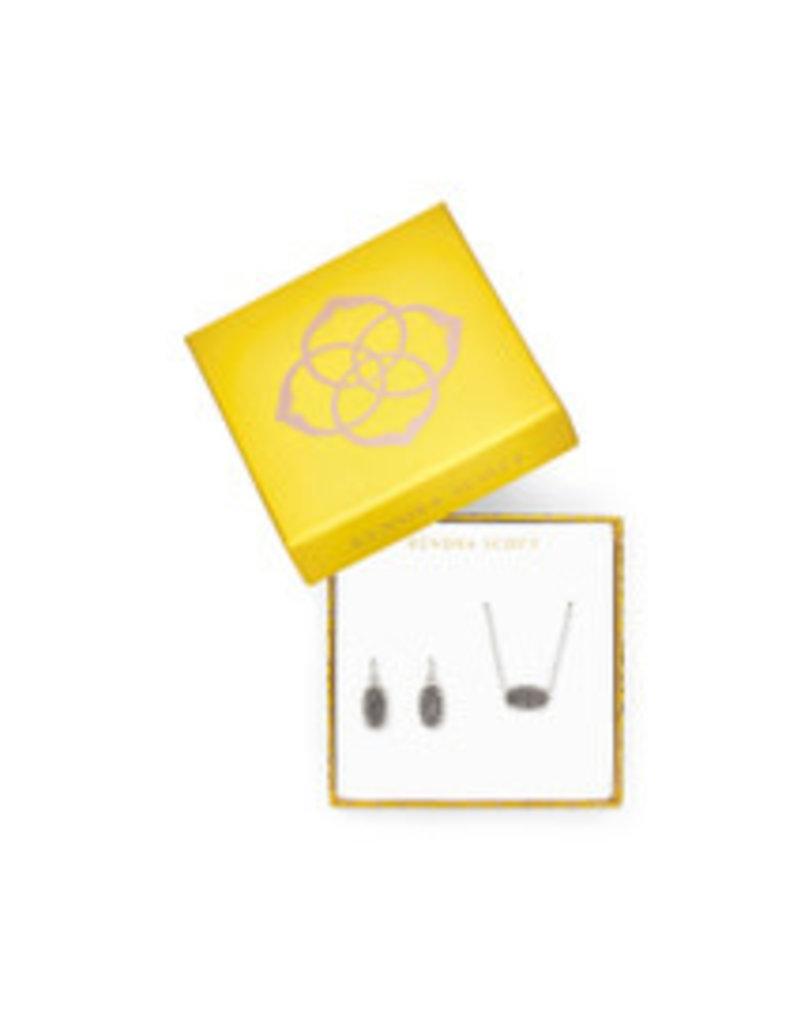 KENDRA SCOTT gift set elisa & lee rhod platinum drusy 4217717861