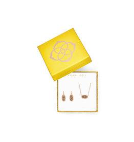 KENDRA SCOTT gift set elisa & lee rose gold drusy 4217717862