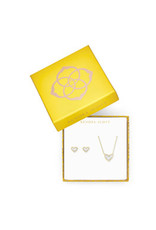 KENDRA SCOTT Gift set ari heart pendant stud gold ivory mop 4217717912