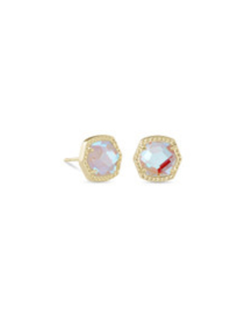 KENDRA SCOTT Davie stud earring gold dichroic glass 4217708398
