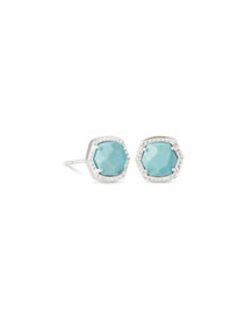 KENDRA SCOTT Davie stud earring rhod lt blue magnesite 4217717916