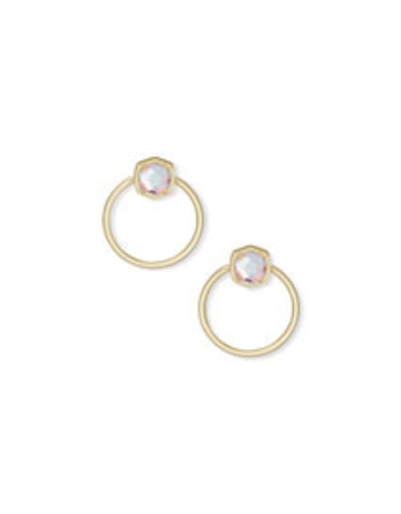 KENDRA SCOTT Davie hoop earring gold dichroic glass 4217708434
