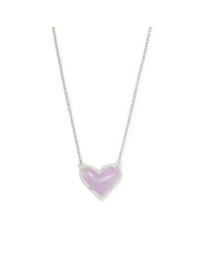 KENDRA SCOTT Ari heart short pendant necklace rhod purple amethyst4217717682