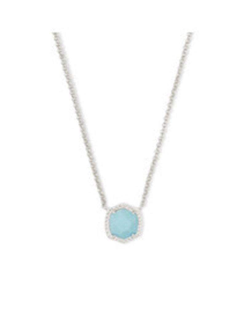 KENDRA SCOTT Davie short pendant necklace rhod lt blue magnesite 4217717918