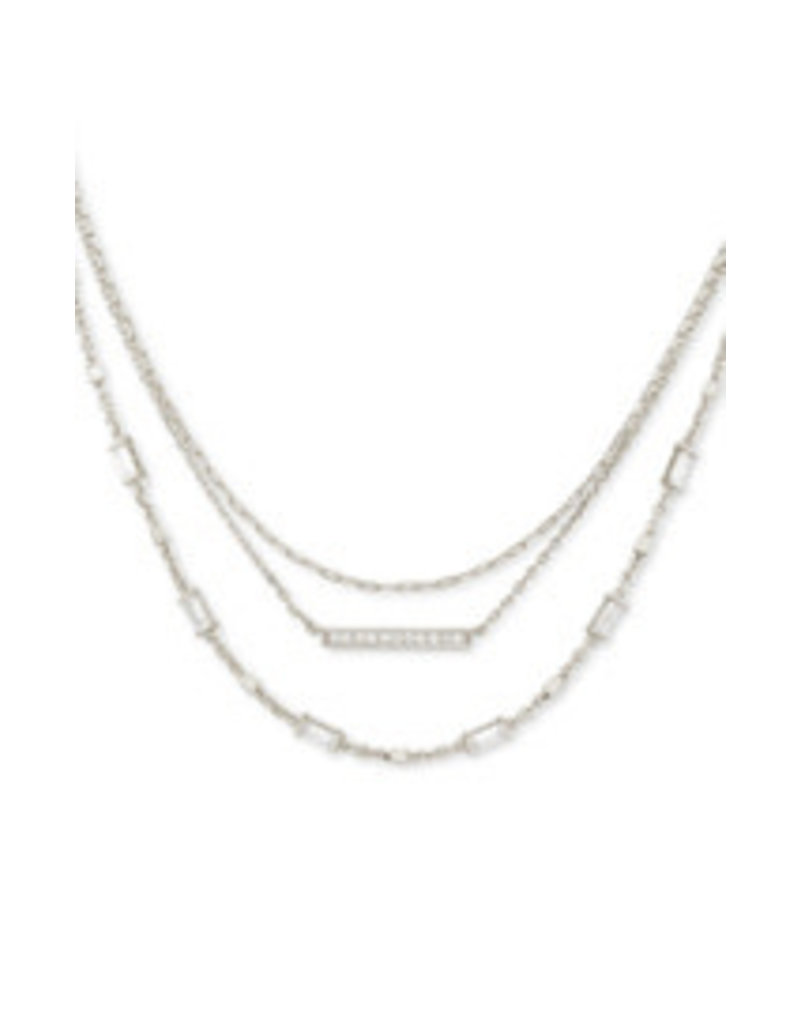 KENDRA SCOTT Addison Multi strand necklace rhod metal 4217717793