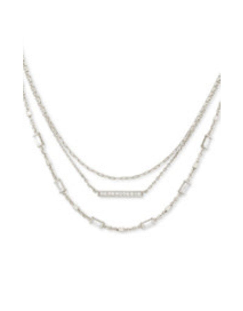 KENDRA SCOTT Medallion triple strand necklace gold metal