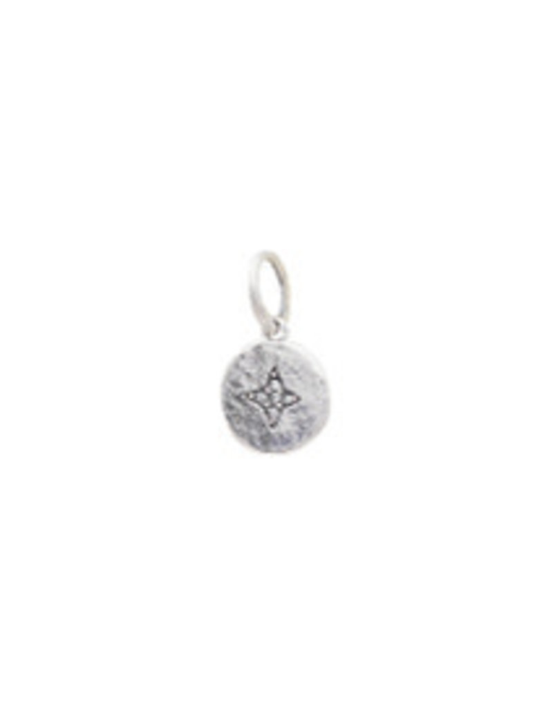 WAXING POETIC Illuminations charm- north star - ss/swarovski