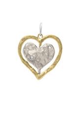 WAXING POETIC truest heart spinner pendant ths-4-ms