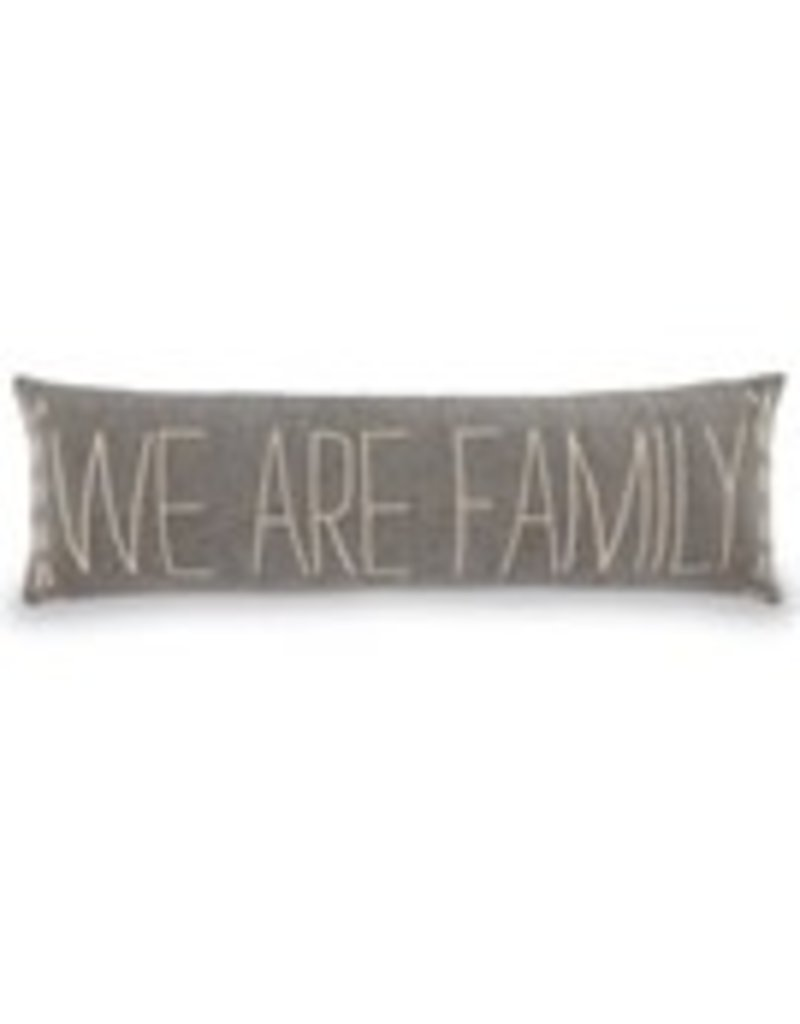 41600293w We are family long pillow 11x35""
