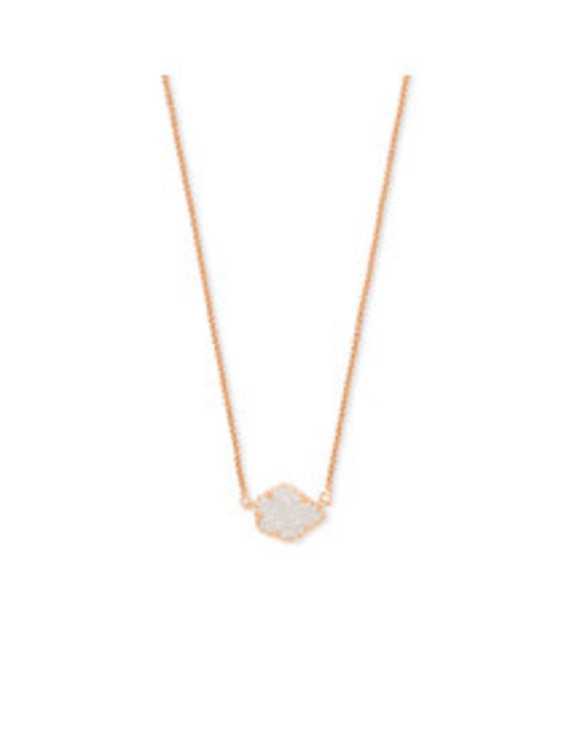 KENDRA SCOTT Tess necklace rose gold iridscent drusy 4217716926