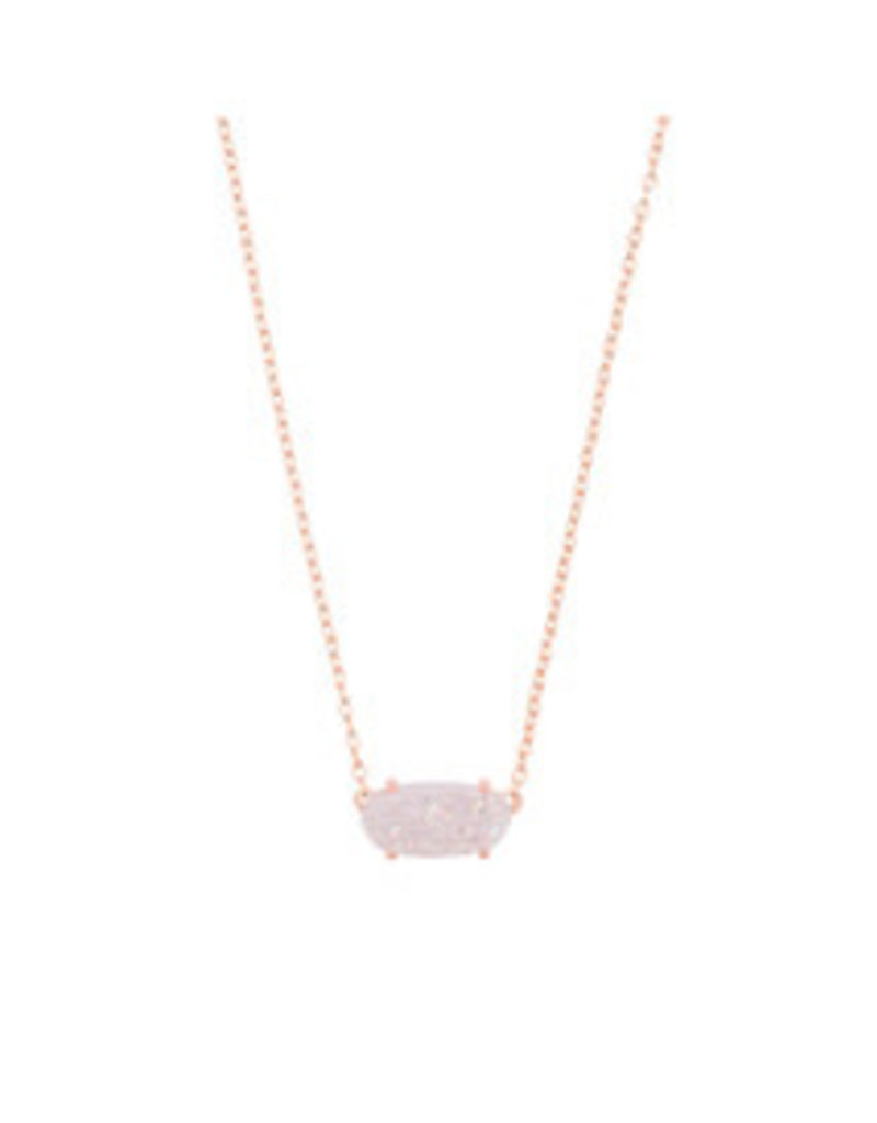 KENDRA SCOTT Ever necklace rose gold iridescent drusy 4217717451