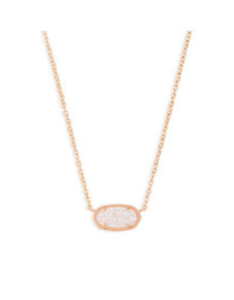KENDRA SCOTT Elisa necklace rose gold iridscnt drusy 4217713833