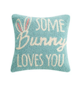 """Some bunny loves you hooked pillow 12"""""""