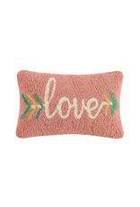 "Love arrow hooked pillow 8x12"" 30tg420c120b"