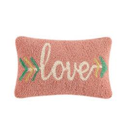 "Love arrow hooked pillow 8x12"" 30tg420c120b"