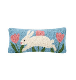 "Bunny hop hooked pillow 12x5"" 30tg437c050b"