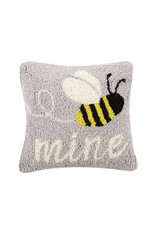 "Bee mine hooked pillow 10x10"" 30tg451c10sq"