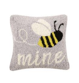 "Bee mine hooked pillow 10x10"" 30tg451c10sq"