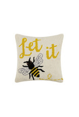Let it bee hooked pillow 16x16
