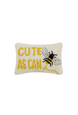 cute as can be hooked pillow 8x12""