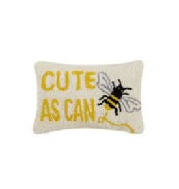 """cute as can be hooked pillow 8x12"""""""