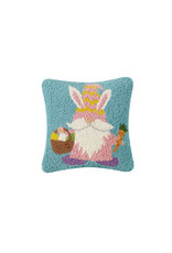 Bunny gnome hooked pillow 10x10""