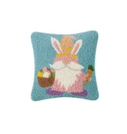 """Bunny gnome hooked pillow 10x10"""""""