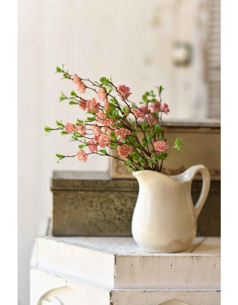 "13.5"" light pink quince bush cs2144"