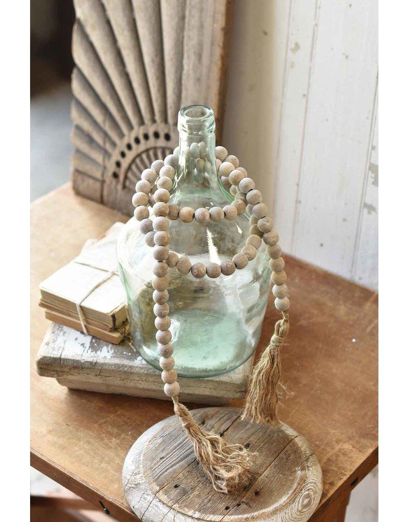 White wash tassel tied garland mx8381