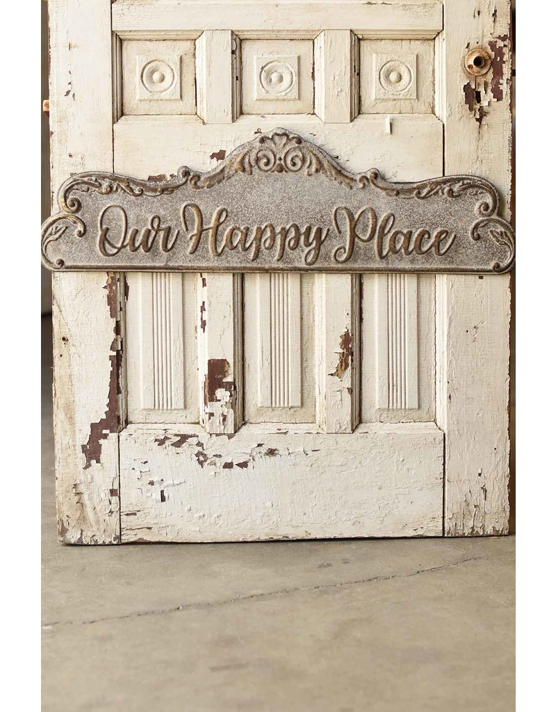 Our happy place scalloped sign qc92864