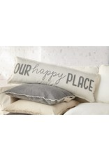Happy place long pillow 41600069