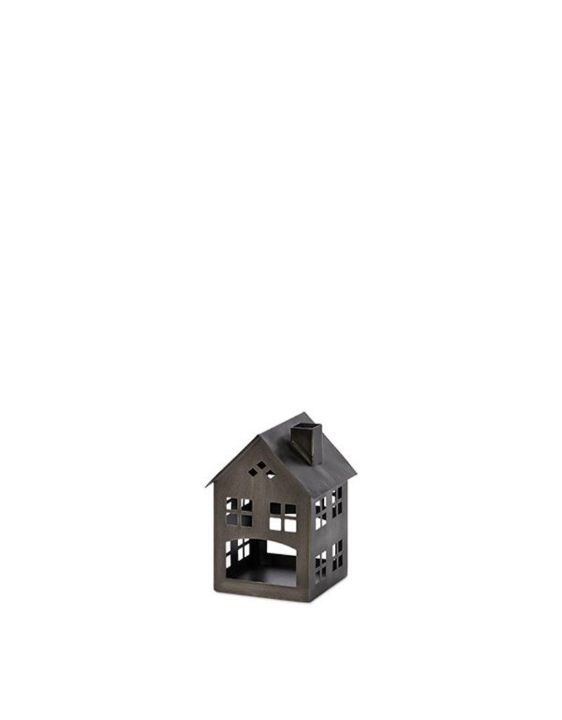 "Black metal house 16""h 95206"