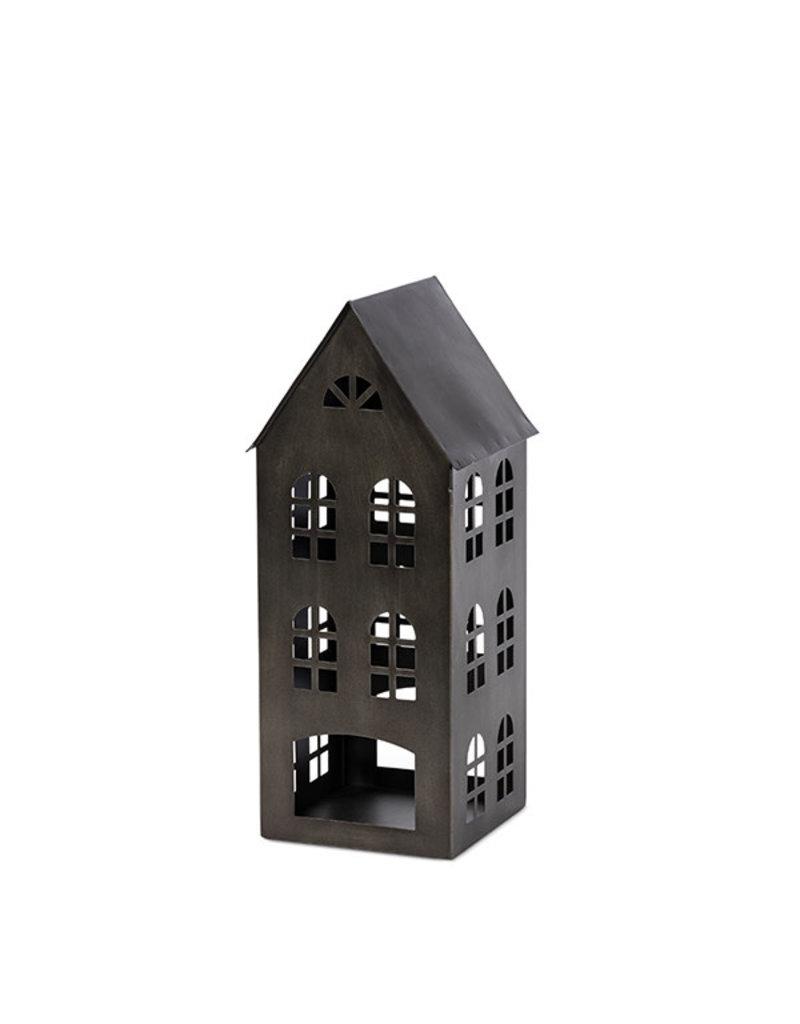 "18.5""h black metal house 95208"