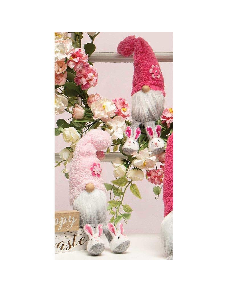 """Fuzzy bunny slipper gnome 11"""" t4044"""