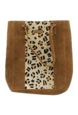"""Jungle tote leopard & suede 16x12x4"""""""