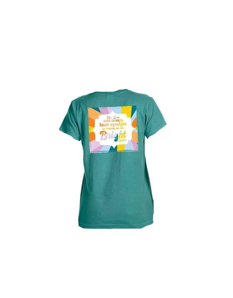 Looking at the bright side sea foam t-shirt
