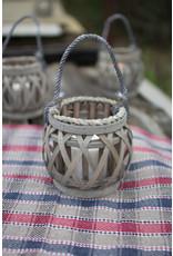 grey willow votive lantern with glass