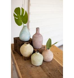 Pastel ceramic bud vase