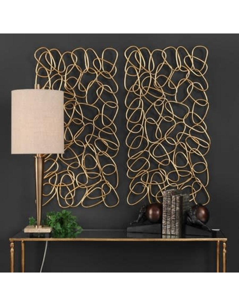 """UTTERMOST In The Loop Metal Wall Panel(individual)  19""""W x 38""""H x1""""D 04124"""