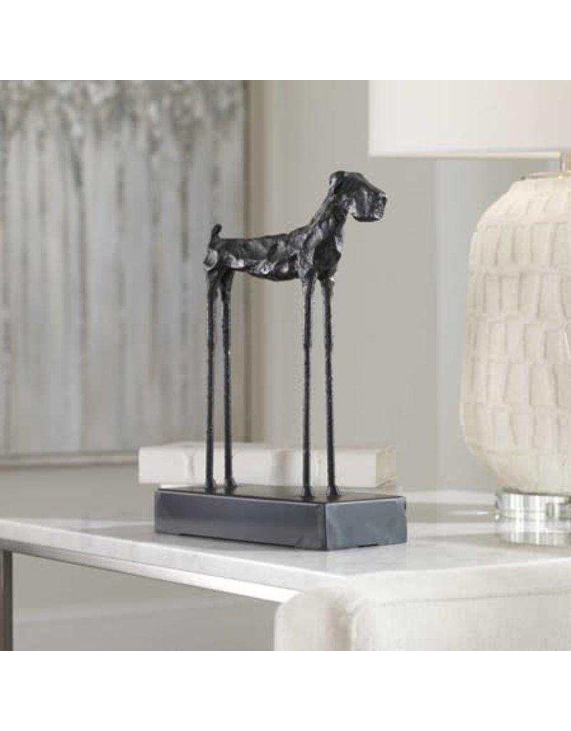 """UTTERMOST Maximus Dog Figurine 9""""W x 13"""" W x 4"""" D 19888"""