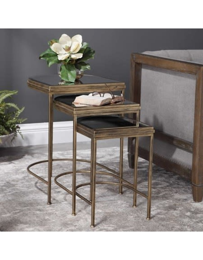 """UTTERMOST India Nesting Tables (S/3) 24908 19""""W x 24""""H x 18"""" D"""