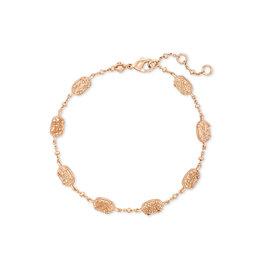 KENDRA SCOTT Emilie link bracelet rose gold sand drusy 4217718152