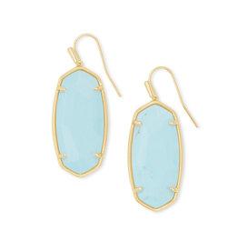 KENDRA SCOTT Faceted elle drop earring gold lt blue magnesite 4217718165